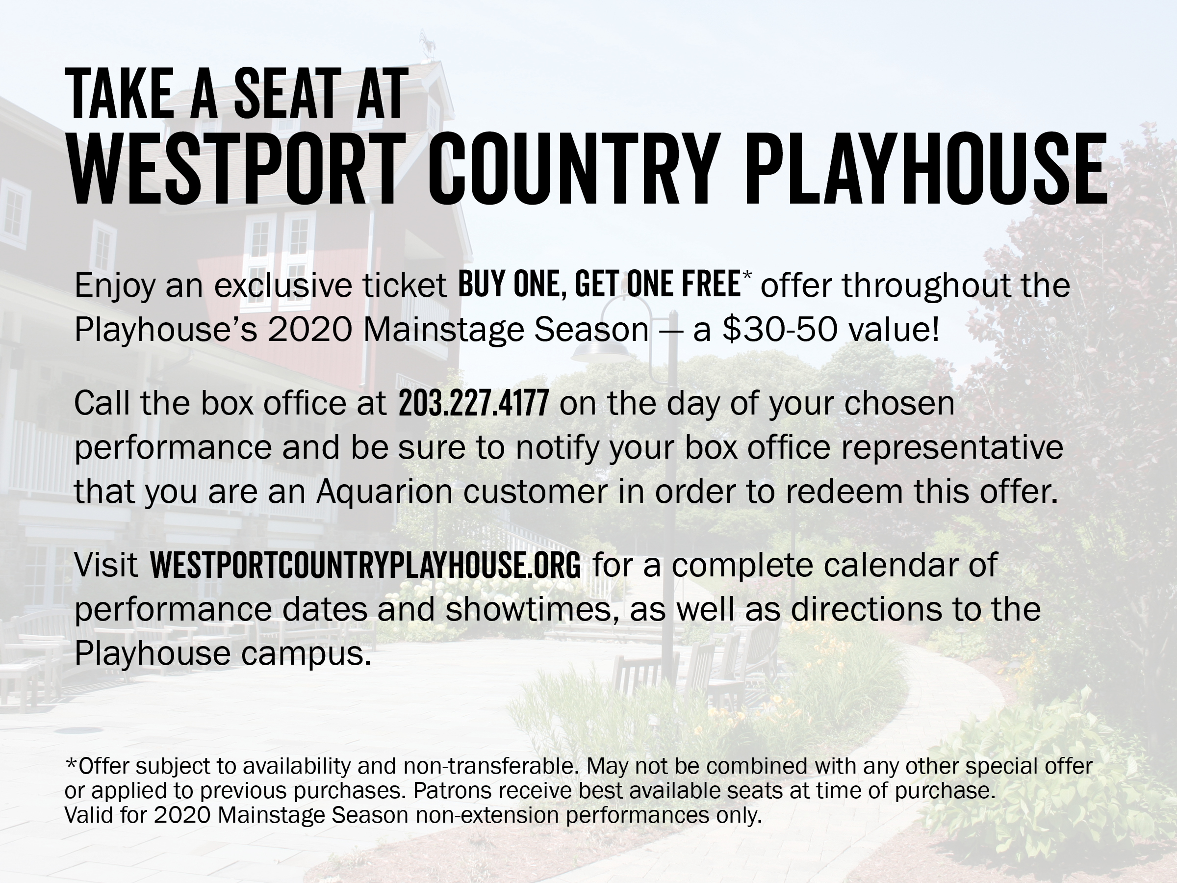Westport Playhouse Coupon